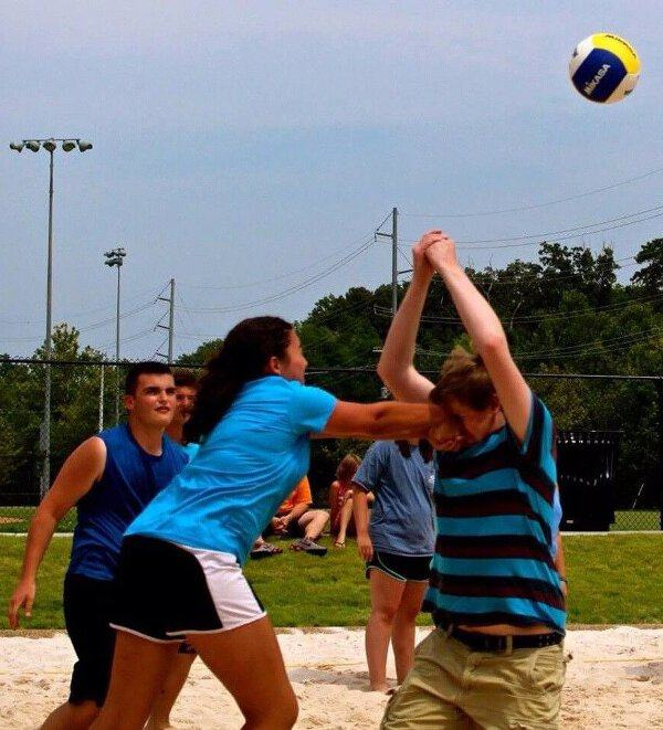 This chick is doing volleyball wrong. Well, I mean her serving posture is pretty spot on, but...